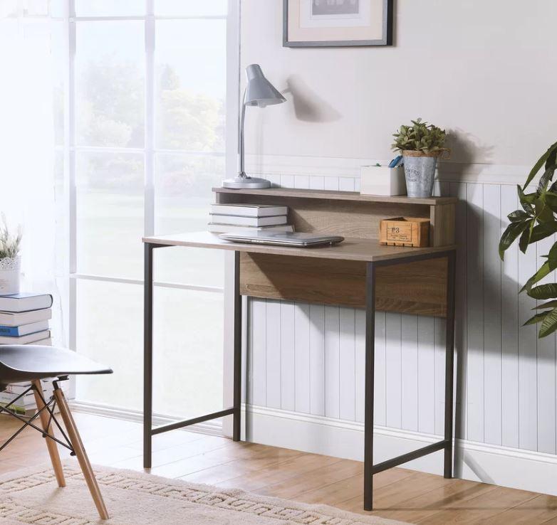 bàn làm việc gỗ tự nhiên phong cách cá nhân 2